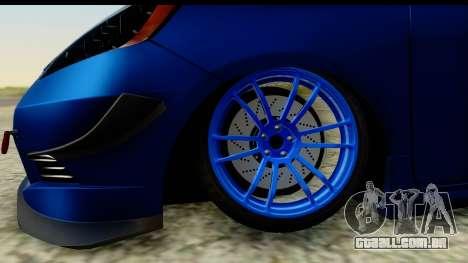 Honda Fit 2009 JDM Modification para GTA San Andreas vista traseira