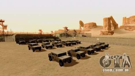 DLC 3.0 Militar atualização para GTA San Andreas por diante tela