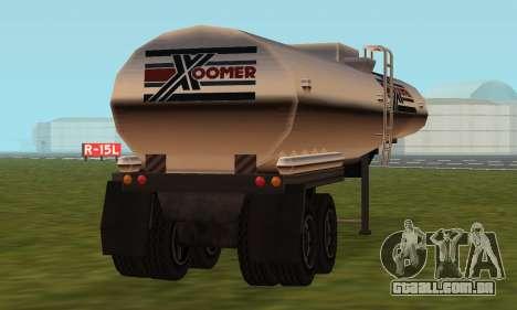 PS2 Petrol Trailer para GTA San Andreas vista traseira
