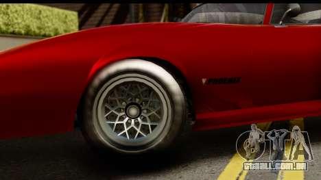 GTA 5 Imponte Phoenix para GTA San Andreas vista traseira
