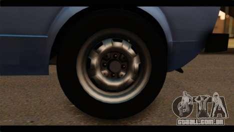 Volkswagen Caddy Mk1 Stock para GTA San Andreas traseira esquerda vista