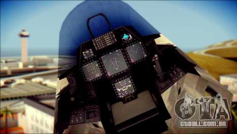 F-22 Raptor Digital Camo para GTA San Andreas vista direita