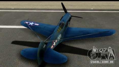 P-40E Kittyhawk US Navy para GTA San Andreas vista interior