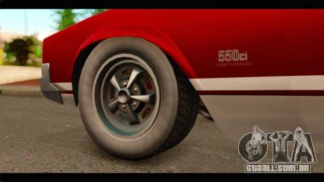GTA 5 Declasse Sabre GT Turbo para GTA San Andreas traseira esquerda vista