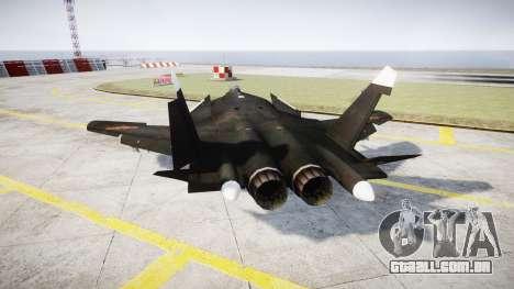 O Su-47 Berkut para GTA 4 traseira esquerda vista