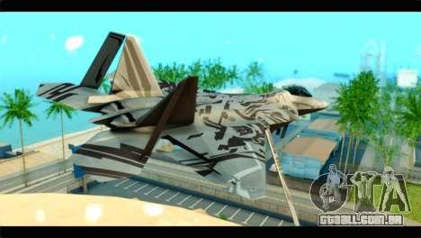 F-22 Raptor Starscream para GTA San Andreas esquerda vista