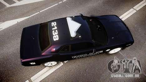 Dodge Challenger SRT8 Police [ELS] para GTA 4 vista direita