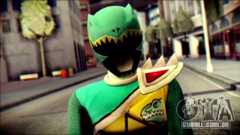 Power Rangers Kyoryu Green Skin para GTA San Andreas terceira tela