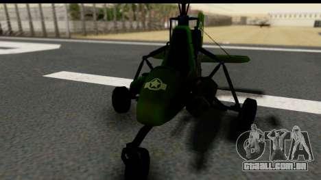 Gyrocopter para GTA San Andreas vista direita