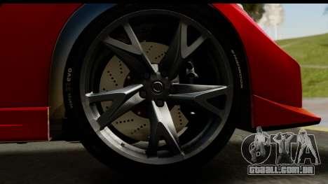 Nissan 370Z Nismo 2010 para GTA San Andreas vista traseira