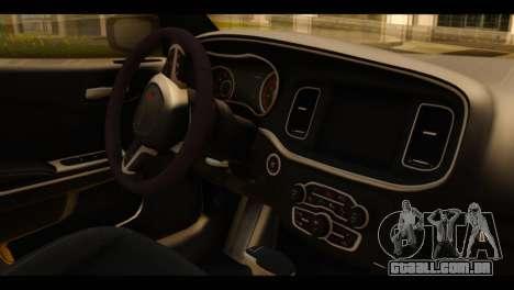 Dodge Charger RT 2015 Hestia para GTA San Andreas vista direita