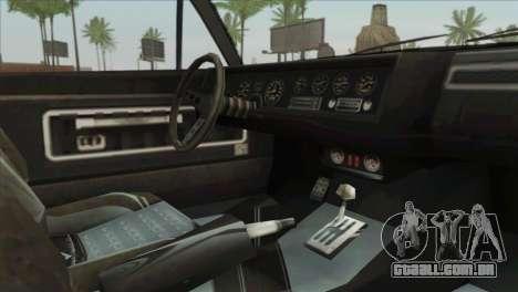 GTA 5 Declasse Stallion para GTA San Andreas vista direita