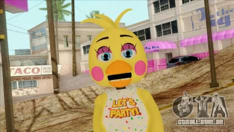 Toy Chica from Five Nights at Freddy 2 para GTA San Andreas terceira tela