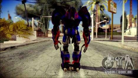 Optimus Prime Skin from Transformers para GTA San Andreas segunda tela