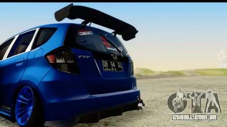 Honda Fit 2009 JDM Modification para GTA San Andreas vista direita