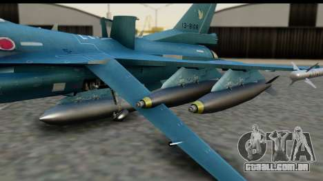 F-2A Viper Blue para GTA San Andreas vista direita