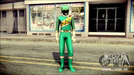 Power Rangers Kyoryu Green Skin para GTA San Andreas