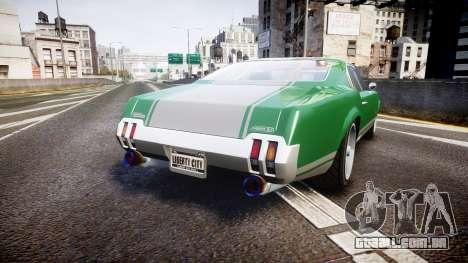 Declasse Sabre GT SS para GTA 4 traseira esquerda vista