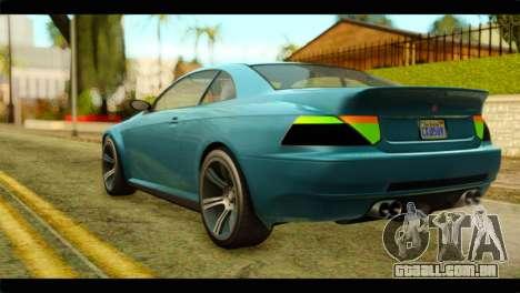 GTA 5 Ubermacht Zion XS IVF para GTA San Andreas esquerda vista