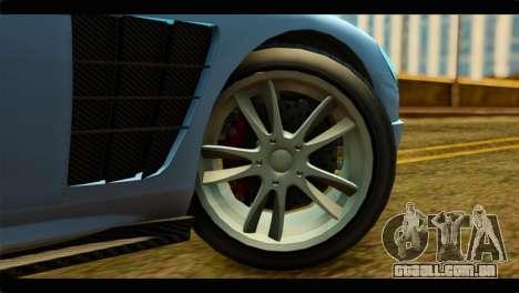 GTA 5 Ocelot F620 IVF para GTA San Andreas traseira esquerda vista