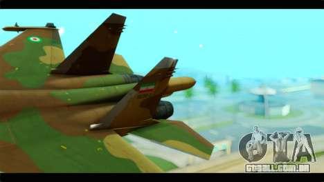 Sukhoi SU-34 IRIAF para GTA San Andreas traseira esquerda vista
