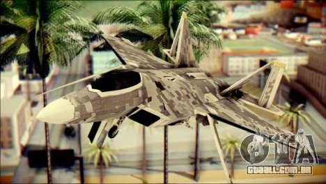 F-22 Raptor Digital Camo para GTA San Andreas vista traseira