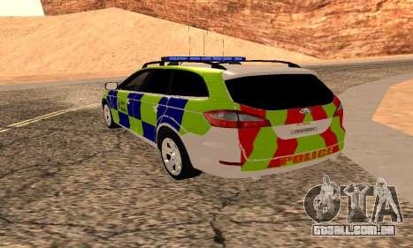 Ford Mondeo Kent Polícia para GTA San Andreas esquerda vista