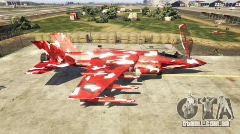 GTA 5 Hydra red camouflage segundo screenshot