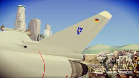 EuroFighter Typhoon 2000 Luftwaffe para GTA San Andreas traseira esquerda vista