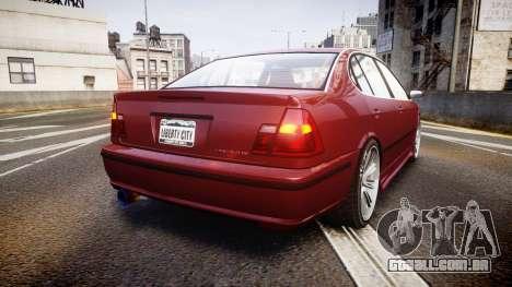 Emperor Lokus LS 350 Elegance para GTA 4 traseira esquerda vista