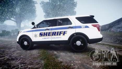 Ford Explorer Police Interceptor [ELS] slicktop para GTA 4 esquerda vista