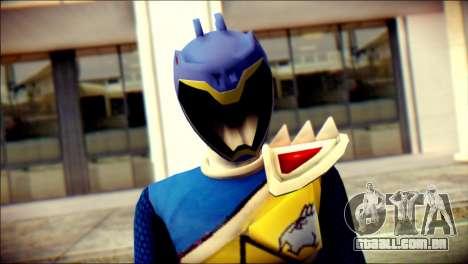 Power Rangers Kyoryu Blue Skin para GTA San Andreas terceira tela
