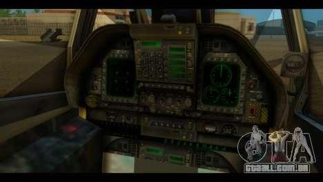 FA-18 Jolly Roger Black para GTA San Andreas vista traseira