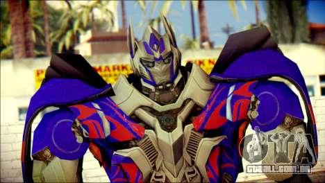 Optimus Prime Skin from Transformers para GTA San Andreas terceira tela