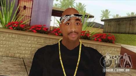 Tupac Shakur Skin v2 para GTA San Andreas terceira tela
