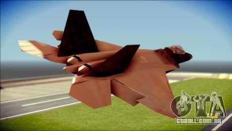 F-22 Raptor G1 Starscream para GTA San Andreas esquerda vista