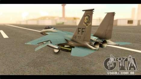 McDonnell Douglas F-15E Strike Eagle para GTA San Andreas esquerda vista