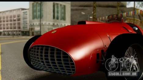 Ferrari 375 F1 para GTA San Andreas traseira esquerda vista