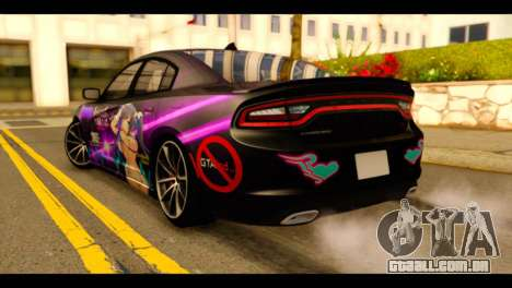 Dodge Charger RT 2015 Hestia para GTA San Andreas esquerda vista