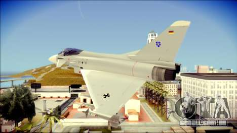 EuroFighter Typhoon 2000 Luftwaffe para GTA San Andreas esquerda vista