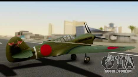 P-40E Kittyhawk IJAAF para GTA San Andreas esquerda vista