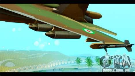 Sukhoi SU-34 IRIAF para GTA San Andreas vista direita