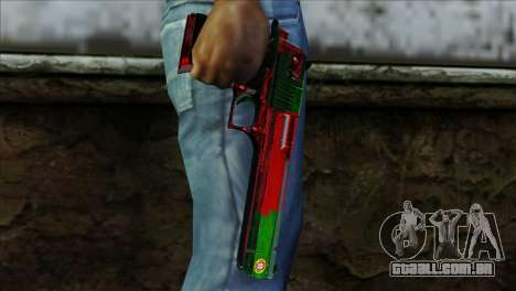 Desert Eagle Portugal para GTA San Andreas terceira tela