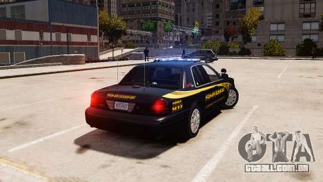 Ford Crown Victoria Sheriff LC [ELS] para GTA 4 esquerda vista