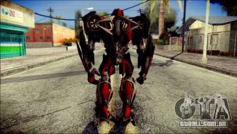 Stinger Skin from Transformers para GTA San Andreas segunda tela