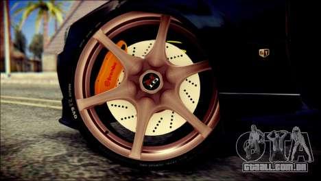 Nissan Skyline GTR V Spec II v2 para GTA San Andreas traseira esquerda vista