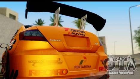 Honda Civic SI Juiced Tuned Shinon Itasha para GTA San Andreas vista direita