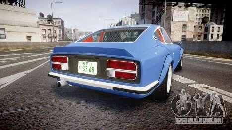Nissan Fairlady Devil Z para GTA 4 traseira esquerda vista