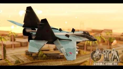MIG-29 Fulcrum para GTA San Andreas esquerda vista