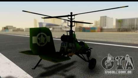 Gyrocopter para GTA San Andreas esquerda vista